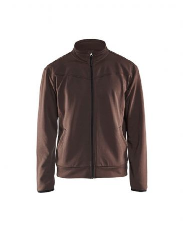 Blaklader 3362 Sweatshirt With Full Zip (Brown/Black)